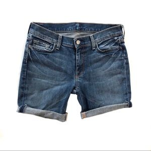 7FAM cuffed jean shorts cut-offs 30 7 All Mankind